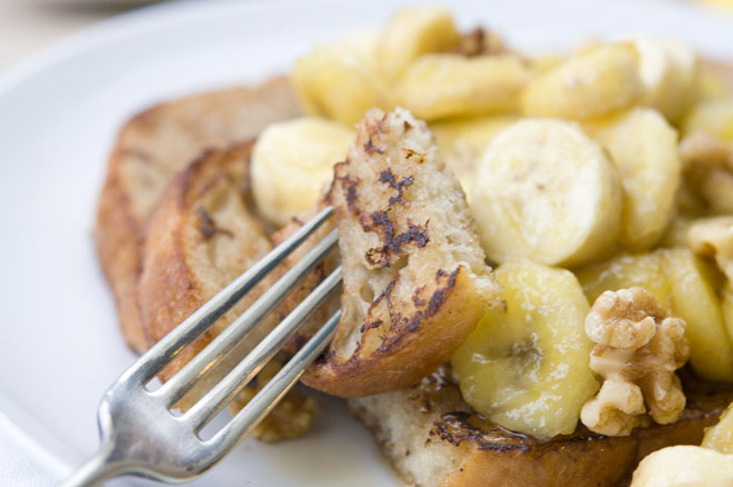 Peaceful Plate Caramelized Banana French Toast - Peaceful Plate