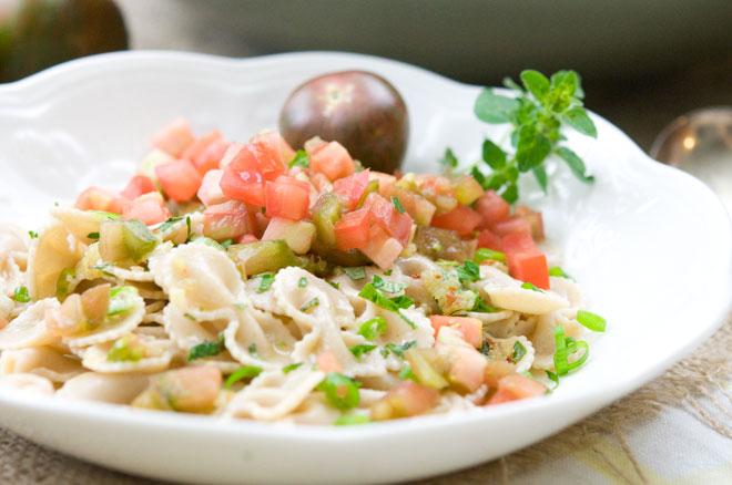 Vegan Heirloom Tomato and Herb Pasta Salad