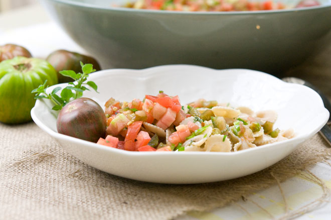 Heirloom Tomato and Herb Pasta Salad