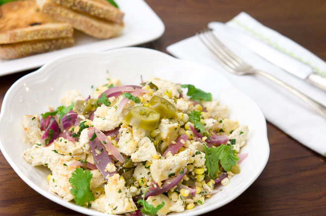 Vegan Scramble Red Onion Sweet Corn