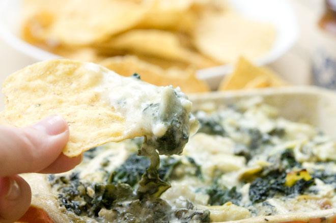 Vegan Creamy Kale Dip