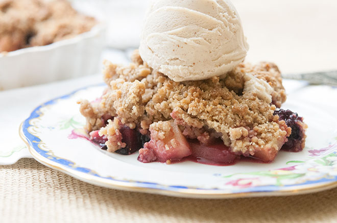 Peaceful Plate Apple & Blackberry Crumble - Peaceful Plate