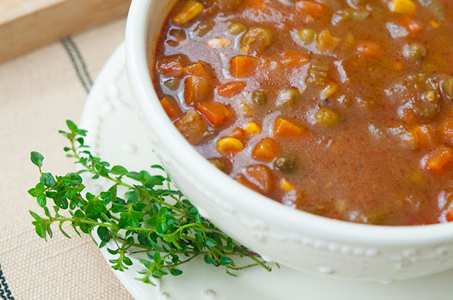 Vegan Crockpot Vegetable Soup