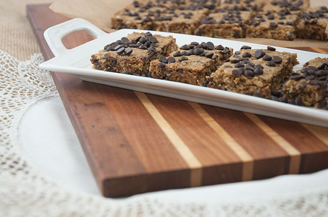Salted Maple Chocolate Chip Bars