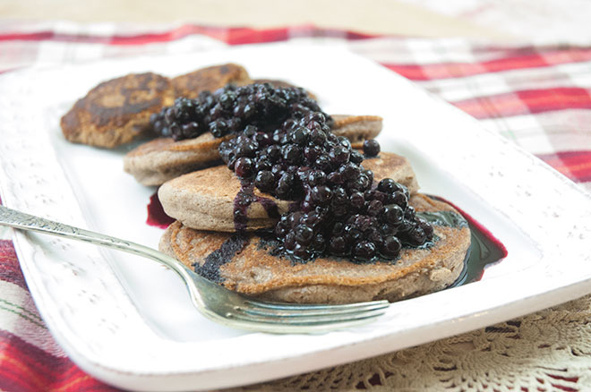 Vegan Pancakes with Wild Blueberries